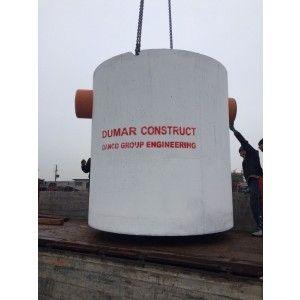 Separator de hidrocarburi din beton cu decantor inclus, Q=3 l/s, e=124 cm, i=100 cm, h=175 cm, Volum total 1000l