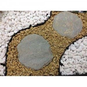 Marmura Rotunjita Alba Thassos 2-4 cm, Sac 20 kg
