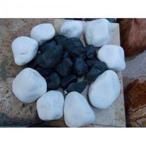 Marmura Rotunjita Alba Thassos 8-13 cm, Sac 20 kg