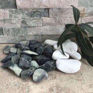 Marmura Rotunjita Verde 2-4 cm, Sac 20 kg
