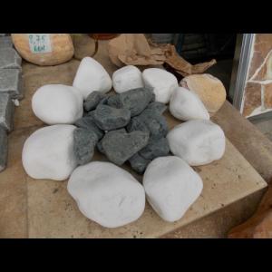 Marmura Rotunjita Alba Thassos 8-13 cm, Big Bag 1500 kg
