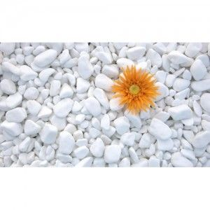 Marmura rotunjita alba Thassos 1-2 cm