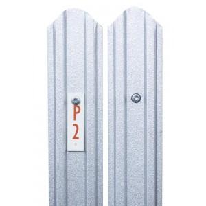 Sipca metalica gard Model Standard 2D Aluminiu Zinc, 0.4 mm