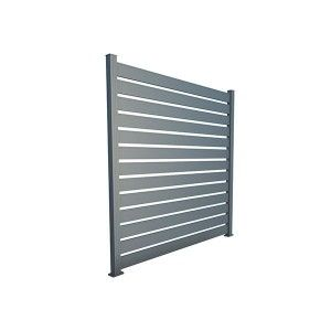 Panou Gard Aluminium Modern Aerisit 200x200 cm Gri Antracit