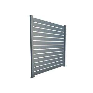 Panou Gard Aluminium Modern Aerisit 250x200 cm Gri Antracit