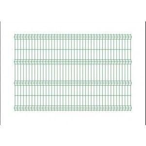 Panou bordurat pentru gard, verde 250x120x0.38 cm