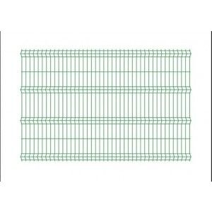 Panou bordurat pentru gard, verde 250x200x0.33 cm