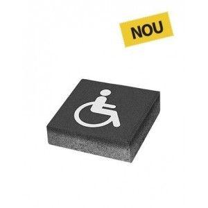 Patrat P3 Simbol Accesibilitate 20x20x6 cm, Antracit