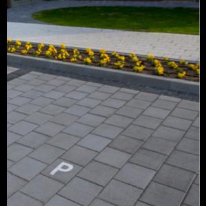 Patrat P3 Simbol Parcare 20x20x6 cm, Antracit