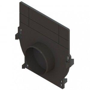 Placa capat polipropilena Basic cu stut pentru rigola LN100 Hext.12-20 cm