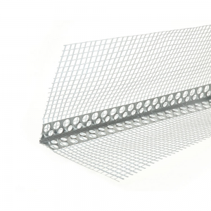 Profil colt aluminiu 250x2.5x2.5 cm, cu plasa 2x7 cm