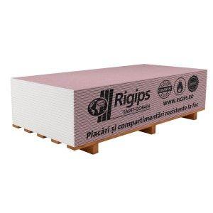 Placa gips carton Rigips RF 260x120x1.5 cm