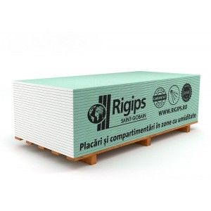 Placa gips carton Rigips RBI 260x120x1.25 cm