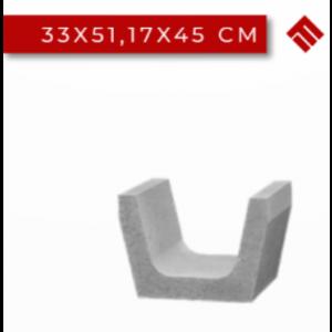 Rigola Trapezoidala 33x51.17x45 cm, Gri