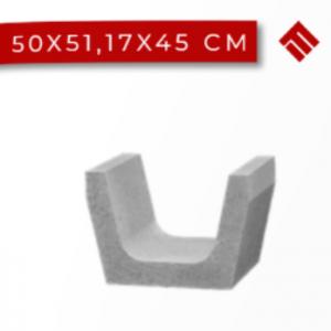 Rigola Trapezoidala 50x51.17x45 cm, Gri