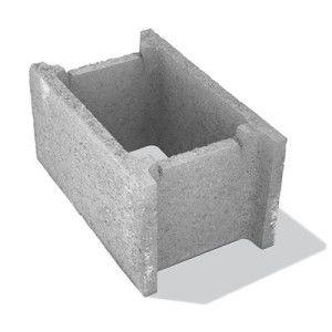 Bolţar fundaţie 50x30x25 cm, gri