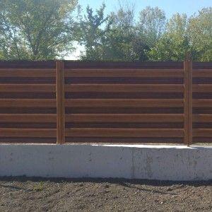 Set 25 buc Sipca Metalica Orizontala Gard Imitatie Lemn Dublu Nuc Striat 0.50 mm