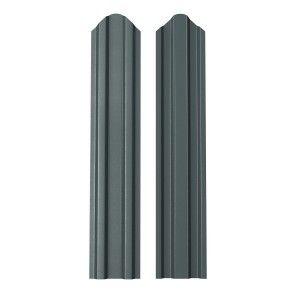 Sipca Metalica Gard finisaj lucios dublu Gri 0.6 mm