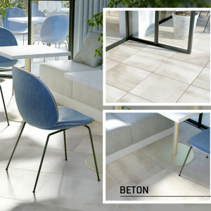 Solid Beton 2.0 60x60x2 cm, Alb