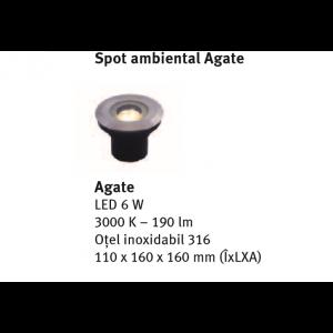 Spot ambiental Agate 11x16x16 cm