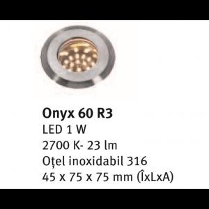 Spot incastrabil Onyx 60 R3 4.5x7.5x7.5 cm