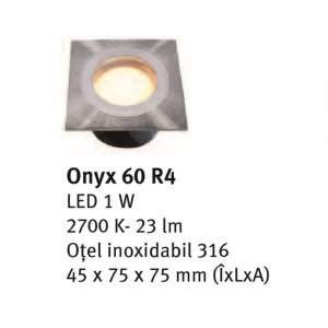 Spot incastrabil Onyx 60 R4 4.5x7.5x7.5 cm