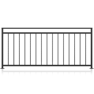 Balustrada fier forjat model 01, 200x90 cm