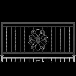 Balustrada fier forjat model 06, 200x90 cm