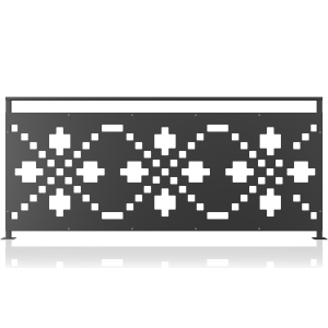 Balustrada metalica panou decorativ model 28, 200x90 cm