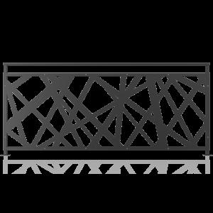 Balustrada metalica panou decorativ model 30, 200x90 cm