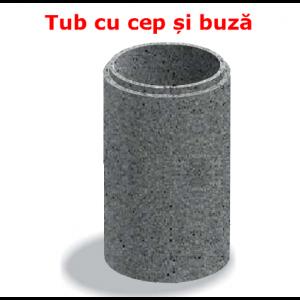 Tub cu cep si buza D 71 di 60 g 5.5 L 103 cm