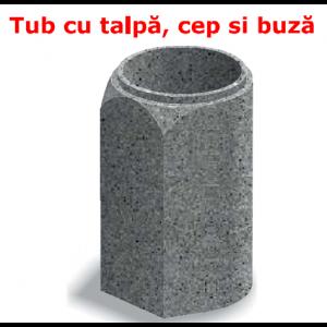 Tub cu talpa, cu cep si buza D 71 di 60 g 5.5 L 103 cm
