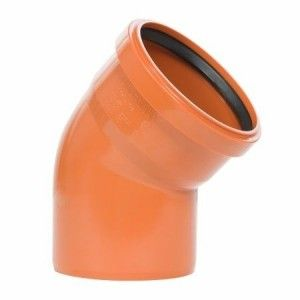Curba canal PVC, unghi 45 grade, DN125