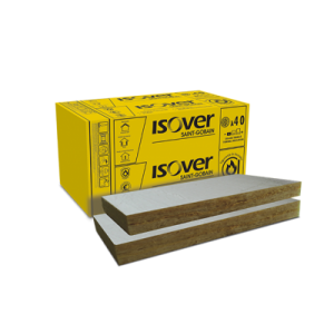 Vata minerala bazaltica Isover PLE 100 cu aluminiu, 100x60x10 cm (3.6 mp)