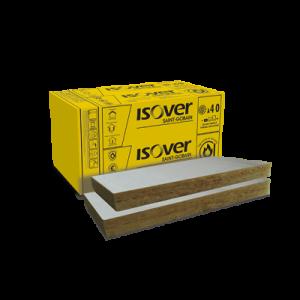 Vata minerala bazaltica Isover PLU 100 cu aluminiu, 100x60x10 cm (2.4 mp)