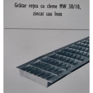 Gratar otel zincat NW 100, 100x12.4x0.2 cm, MW 30/10, B 125 kN