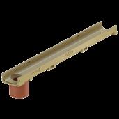Element de rigola Self Euroline cu stut, fara gratar 100x11.8x5.5 cm