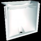 Curte de lumine cu adancime 40 cm, fara gratar 80x60 cm