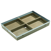 Tava pentru stergator de picioare Self Vario din beton cu polimeri 60x40x8 cm