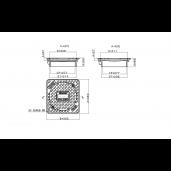 Capac compozit B125 pentru tub DN315