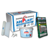 Termosistem complet Adeplast cu polistiren expandat EPS80, 100x50x10 cm