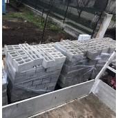 Boltar de zidarie 40x25x20 cm, Gri