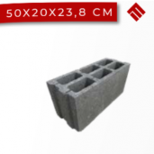 Boltar Zidarie 50x20x23.8 cm, Gri