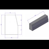 Bordura 50x10x15 cm Tesitura 8/7 cm, Gri