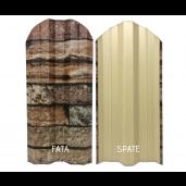 Set 25 buc/3 ml Sipca Metalica Gard Imitatie Piatra Zid Granit 0.40 mm