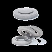 Rama circulara fonta+beton armat D 86.5 di 77.9 H 20 H1 16 H2 4 h