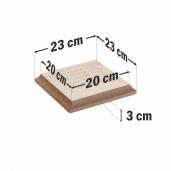 Capitel Pentru Capac 25x25 cm (20x20/23x23)x4 cm, Smoke