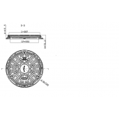 Capac compozit rotund 72 cm D400 (garnitura, sistem inchidere)