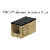Element de vizitare Monoblock PD 200 cu gratar si muchii din fonta 50x25x33 cm