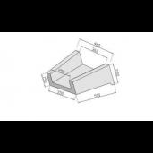 Element Prefabricat Pentru Casiuri 50x36x23, Gri Ciment